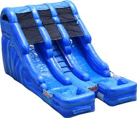 Double Lane Splash Water Slide-1